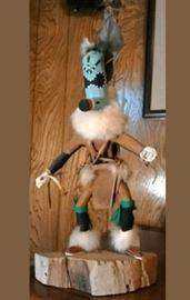 artist inspired Doll Sculpture patterned after Kachina dancer