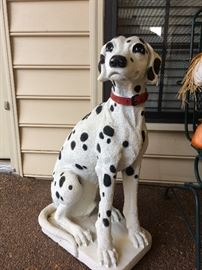 Bigger than life size dalmatian -no need to clean up after this guy!