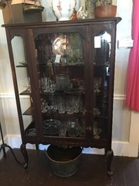 Cabinet with Candlewick Glass