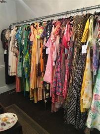 Rack of vitnage clothing
