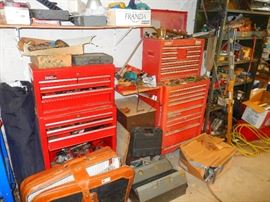 Tool chests filled with tools