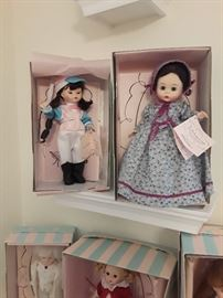 Madame Alexander Dolls over 50 dolls on original boxes with certificate of authenticity some never offered for retail except in shows
