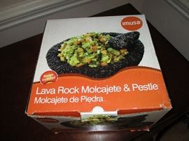 Lava Rock Pestle.  New in the box.  Original price:  $55.  Discounts apply both days.