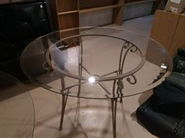 Glass top dining/patio table