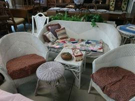 Vintage wicker set