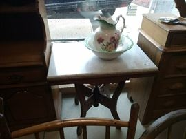 Beautiful vintage pitcher and basin