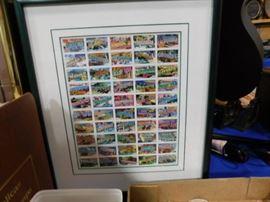 Framed UNC stamps