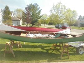 Both Vintage wooden canoes  by Chestnut Canoe Co. are up for bid ending 4pm Wednesday.