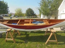 """""""Old Time"""" vintage wooden canoe is up for bid ending 4pm Wednesday"""