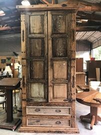 Antique Mexican Pine Aromoire, Very large piece $1950