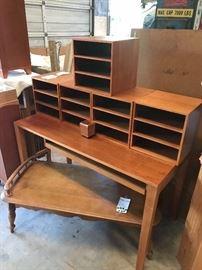 Solid Teak-Wood Levenger Desk, 8 piece- retails for over $3000! I am only asking $300