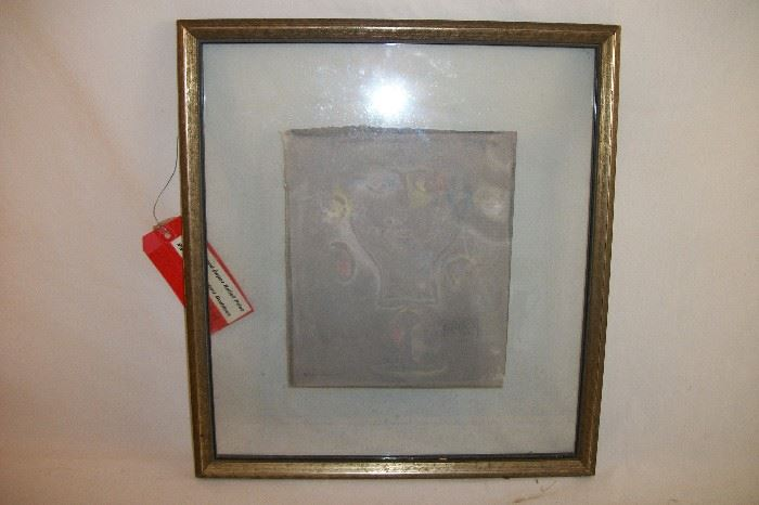 Mixed Media Relief signed Mihail