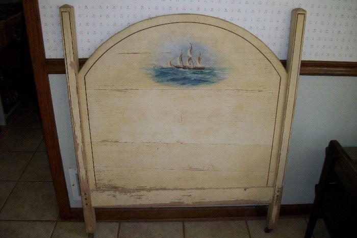 Hand Painted single headboard