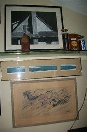 "1961 DeGrazia Print ""The Wind"""
