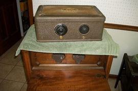 Breadbox radio with lower speaker