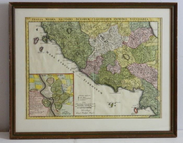 Original 1720 Map of Italy C Weigel