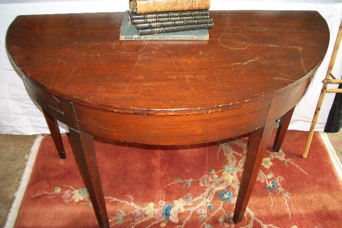 Circa 1790-1810 Demilune Table