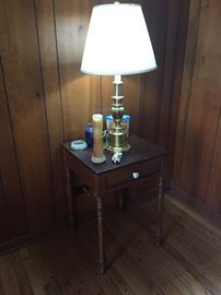 Brass lamps and small furniture