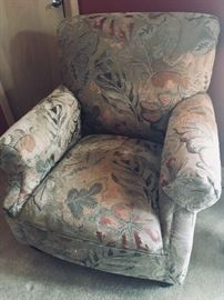 Upholstered chair  with I don't man  from Gabberts, $300