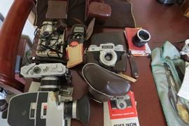 Super 8mm cameras and other camera items