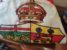 c1800s Victorian era Red Ensign parade flag of the Dominion of Canada