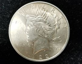 Silver peace dollars