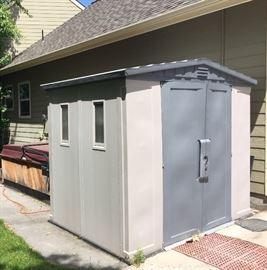 8x5x7 utility shed