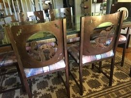 Two of the dining chairs