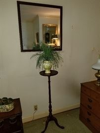 Mirror, plant stand