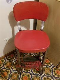 Vintage Cosco  step stool Chair in Red great condition