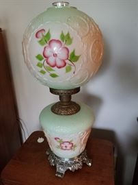 Vintage Hedco Wagon Wheel GWTW  Parlor  Lamp