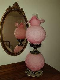 Vintage Fenton GWTW Pink Satin Poppy
