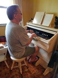 Pump Organ with Glenn plying his skills