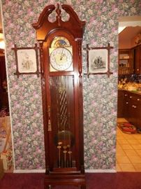 Ridgeway  Grandfather clock with Westminster chimes