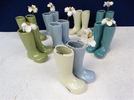 16 Mini Boot Vases