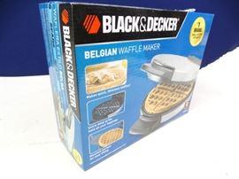 Black Decker Belgian Waffle Maker