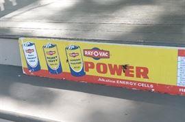 Single sided Ray-O-Vac Battery sign
