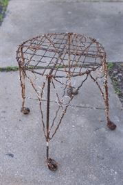 Vintage French wire plant stand