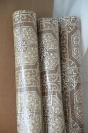 Mid-Century Craft Mosaic linoleum flooring. 7 unopened rolls and one partial roll. 9'x12' each.