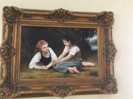 40X51 framed, excellent quality oil painting.   Originally purchased at an auction.