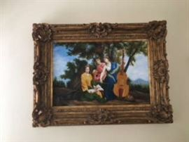 37X49 framed oil painting originally purchased at auction house.
