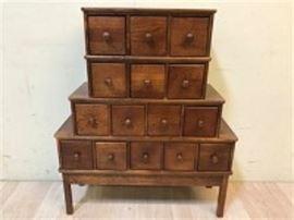 Vintage Solid Wood Drawer Organizer