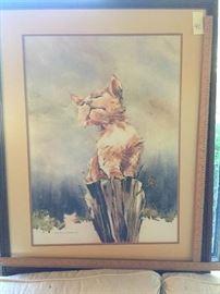Cat on Post by Carol Ratafia