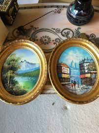 Small Oval Landscape Paintings