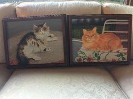 Folk Art Cat Paintings