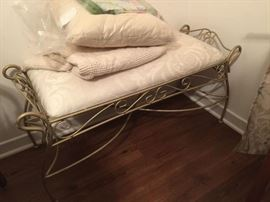 Vanity Bench - Cushion and Blanket Not Included