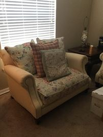 Beige sofa and large chair