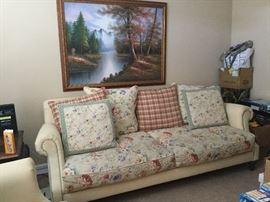 Beige Sofa and artwork