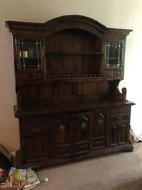 Antique Wall Cabinet/Buffet