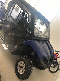 6 months old Yamaha 4 wheeler with all the bells and whistles. Street legal and has a snowplow. Asking 18,500